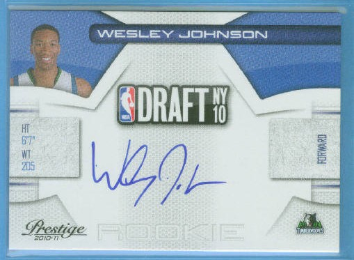 2010-11 Prestige NBA Draft Class Signatures #4 Wesley Johnson/299