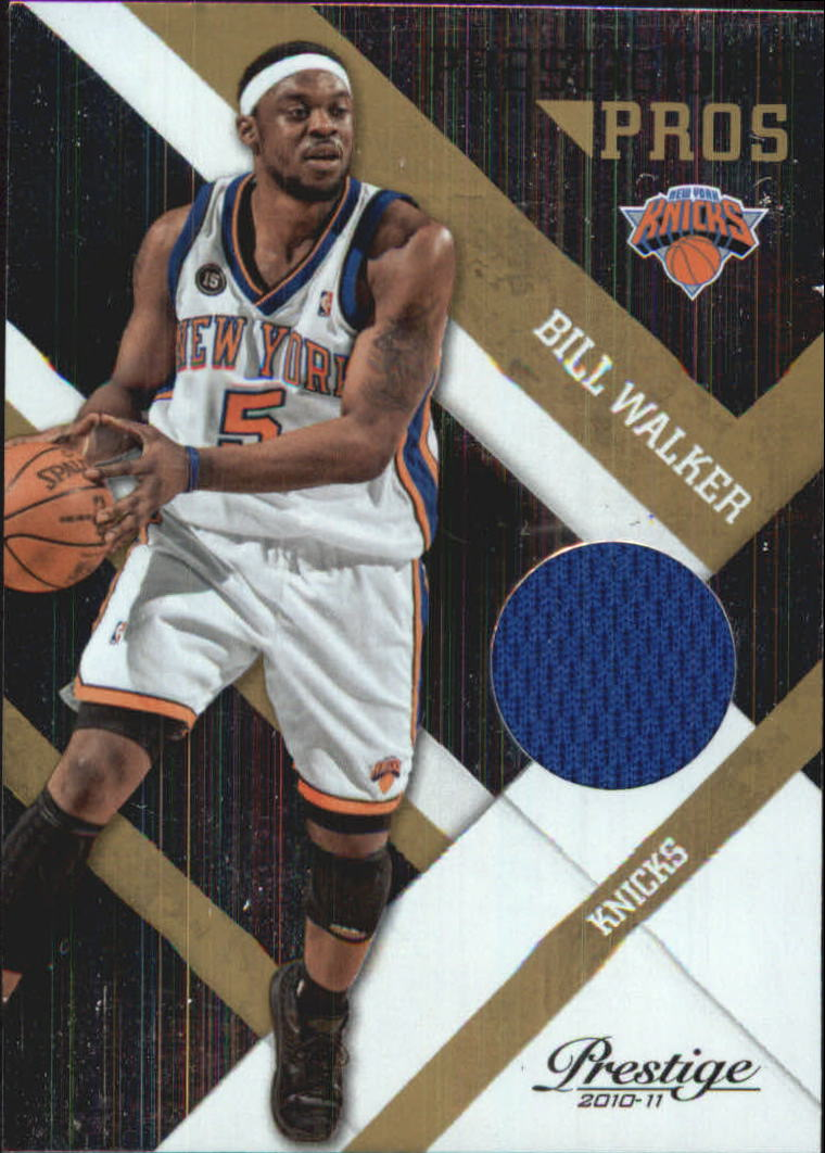 2010-11 Prestige Prestigious Pros Materials Gold #6 Bill Walker