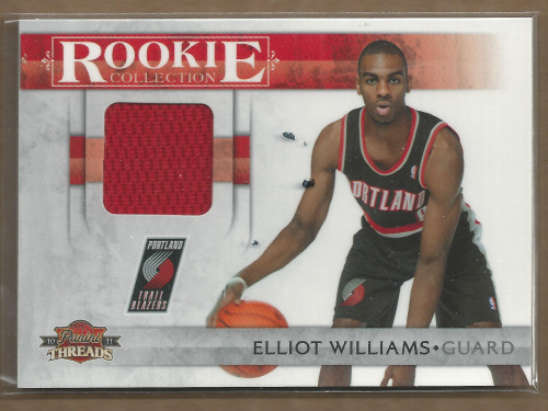 2010-11 Panini Threads Rookie Collection Materials #20 Elliot Williams