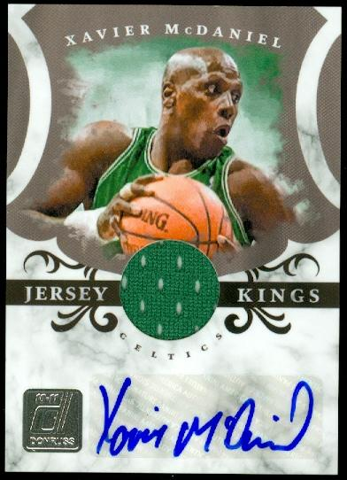 2010-11 Donruss Jersey Kings Materials Signatures #4 Xavier McDaniel/49