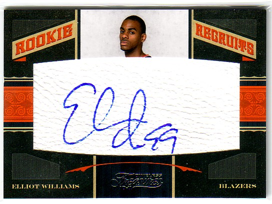 2010-11 Timeless Treasures #122 Elliot Williams AU/299 RC