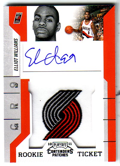 2010-11 Playoff Contenders Patches #121 Elliot Williams AU RC