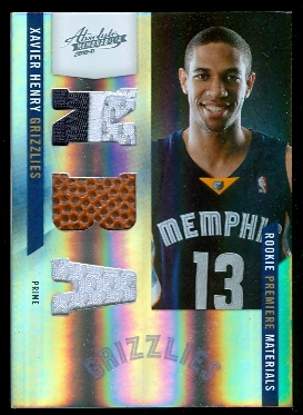 2010-11 Absolute Memorabilia Rookie Materials NBA Spectrum Prime #162 Xavier Henry