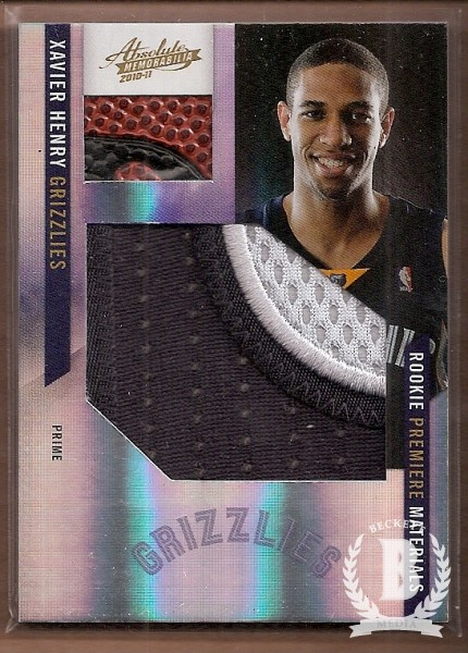 2010-11 Absolute Memorabilia Rookie Materials Prime Jumbo Basketball #162 Xavier Henry