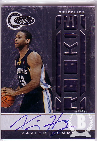 2010-11 Totally Certified #166 Xavier Henry/599 JSY AU RC