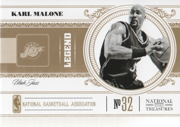 2010-11 Playoff National Treasures #108 Karl Malone