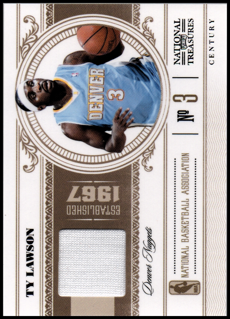 2010-11 Playoff National Treasures Century Materials #25 Ty Lawson/49