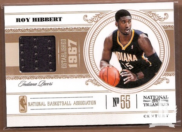 2010-11 Playoff National Treasures Century Materials #37 Roy Hibbert/49