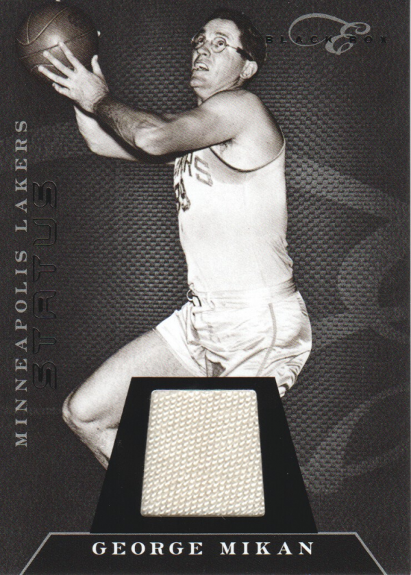 2010-11 Elite Black Box Materials #118 George Mikan/49