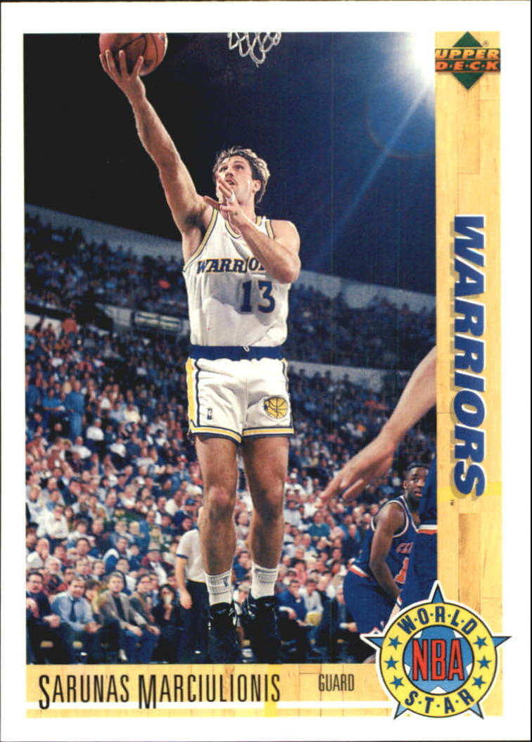 1991-92 Upper Deck International Spanish #191 Sarunas Marciulionis