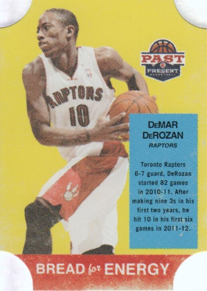 2011-12 Panini Past and Present Bread for Energy #11 DeMar DeRozan