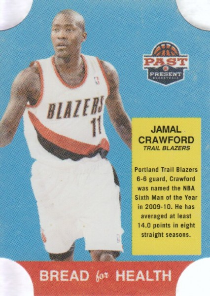 2011-12 Panini Past and Present Bread for Health #13 Jamal Crawford