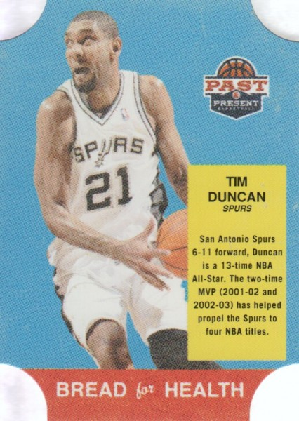 2011-12 Panini Past and Present Bread for Health #15 Tim Duncan