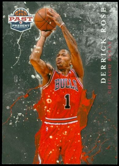 2011-12 Panini Past and Present Raining 3's #11 Derrick Rose