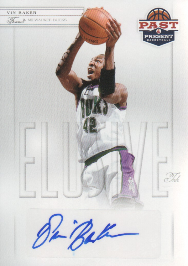 2011-12 Panini Past and Present Elusive Ink Autographs #VB Vin Baker