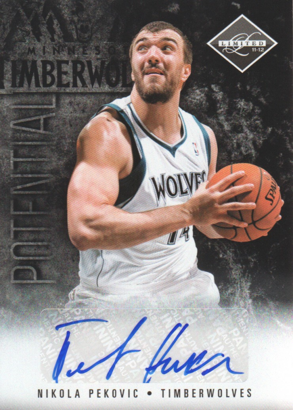 2011-12 Limited Potential Signatures #50 Nikola Pekovic/99
