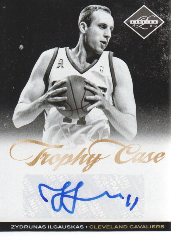 2011-12 Limited Trophy Case Signatures #21 Zydrunas Ilgauskas/49