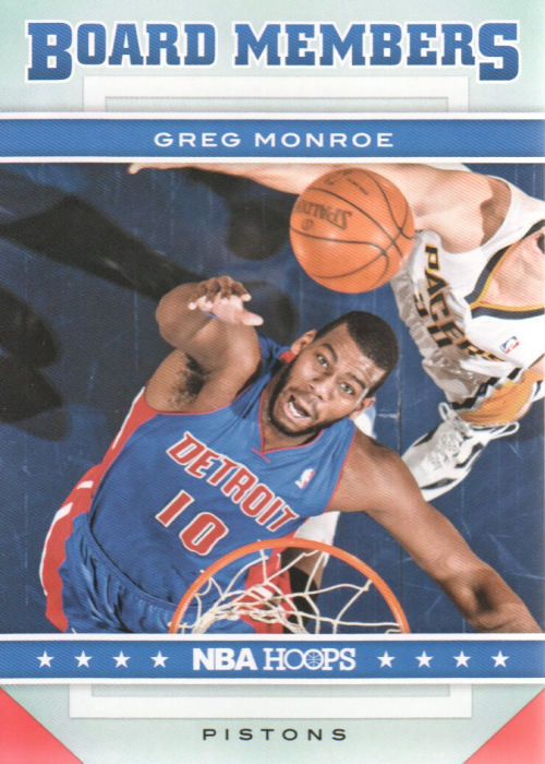 2012-13 Hoops Board Members #12 Greg Monroe