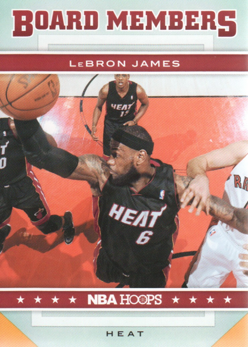 2012-13 Hoops Board Members #18 LeBron James