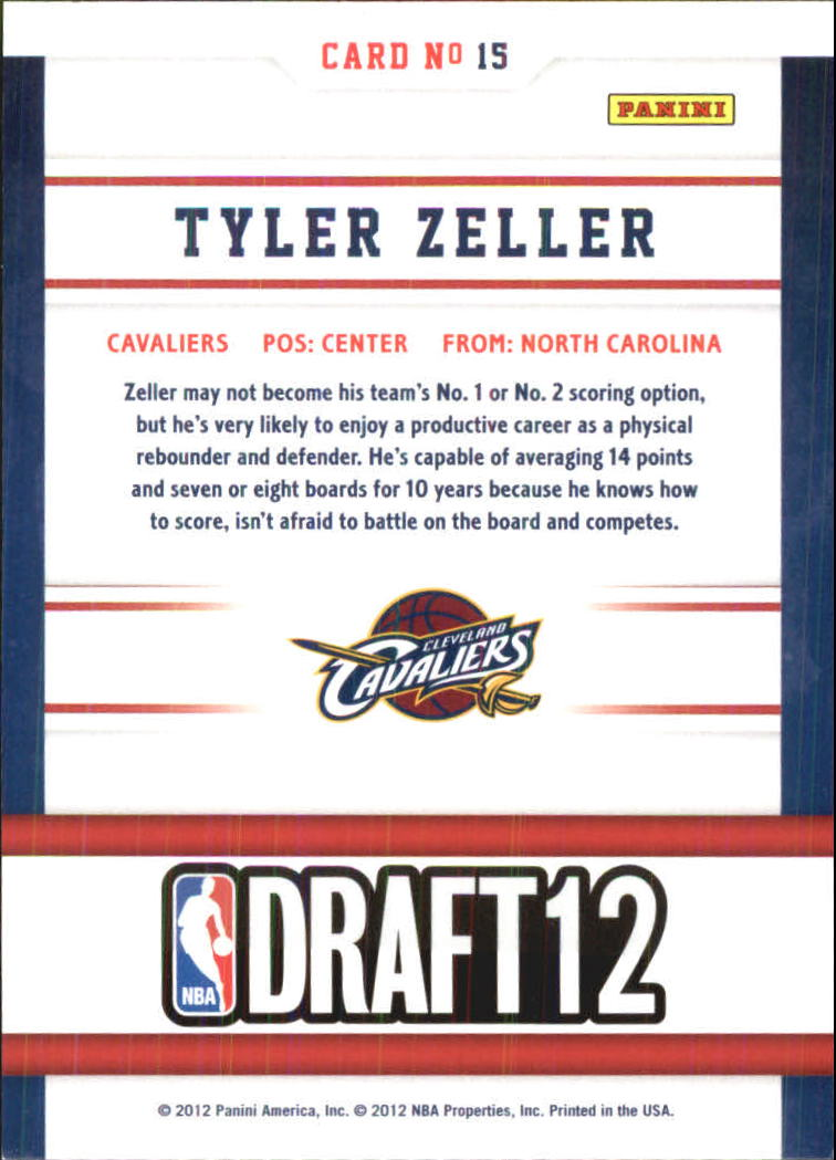 2012-13 Hoops Draft Night #15 Tyler Zeller back image
