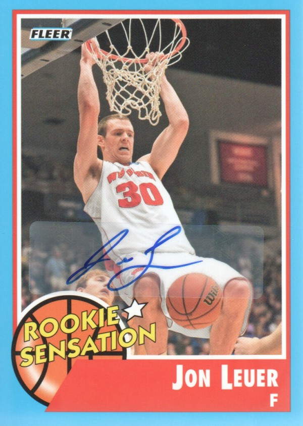 2011-12 Fleer Retro Autographs #75 Jon Leuer RS