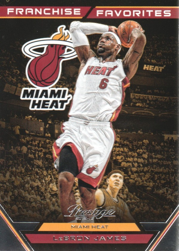 2012-13 Prestige Franchise Favorites #6 LeBron James