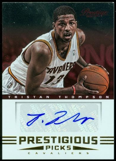 2012-13 Prestige Prestigious Picks Signatures #4 Tristan Thompson