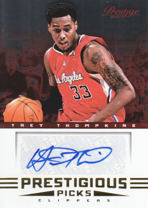 2012-13 Prestige Prestigious Picks Signatures #31 Trey Thompkins