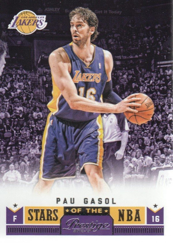 2012-13 Prestige Stars of the NBA #2 Pau Gasol