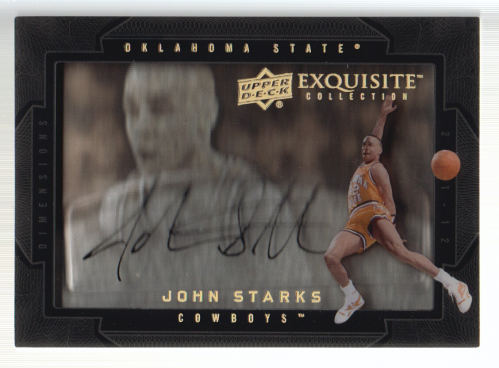 2011-12 Exquisite Collection Dimensions Autographs #DST John Starks