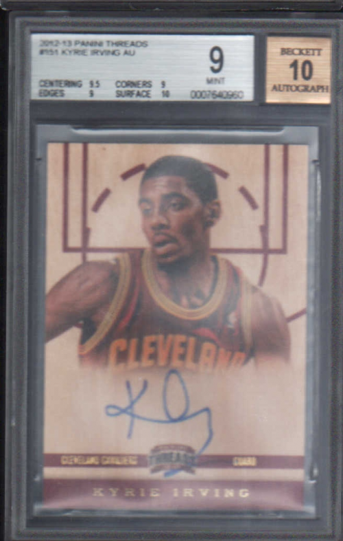 2012-13 Panini Threads #151 Kyrie Irving AU RC