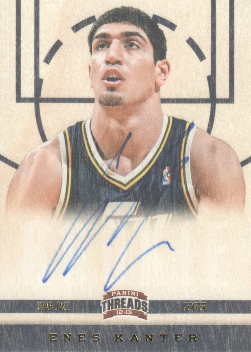 2012-13 Panini Threads #153 Enes Kanter AU RC