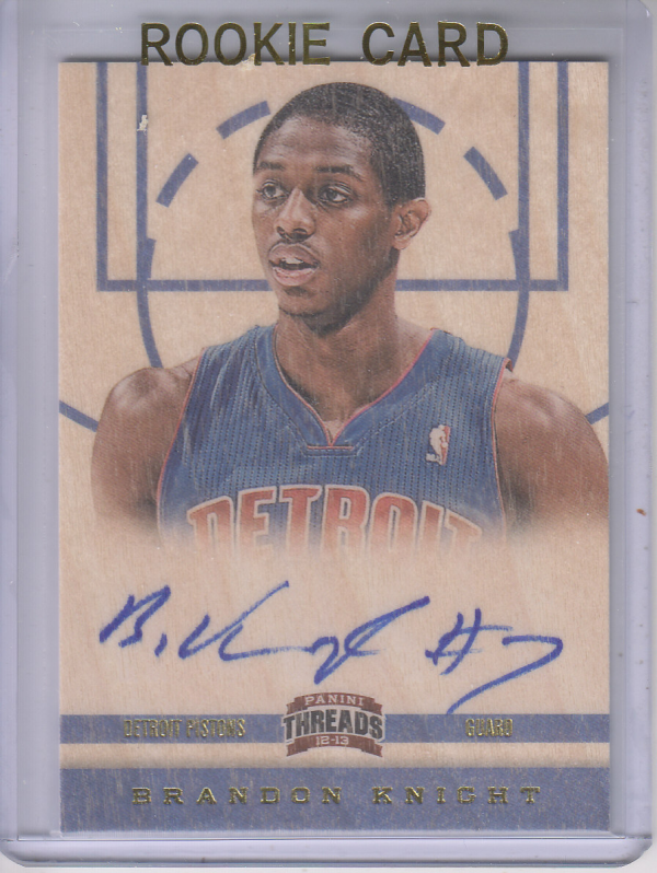 2012-13 Panini Threads #157 Brandon Knight AU RC