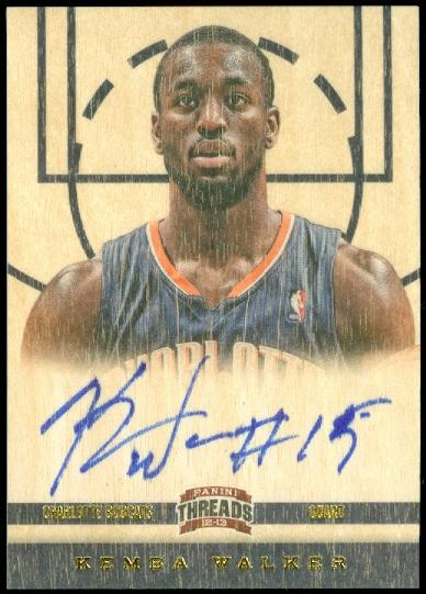 2012-13 Panini Threads #158 Kemba Walker AU RC
