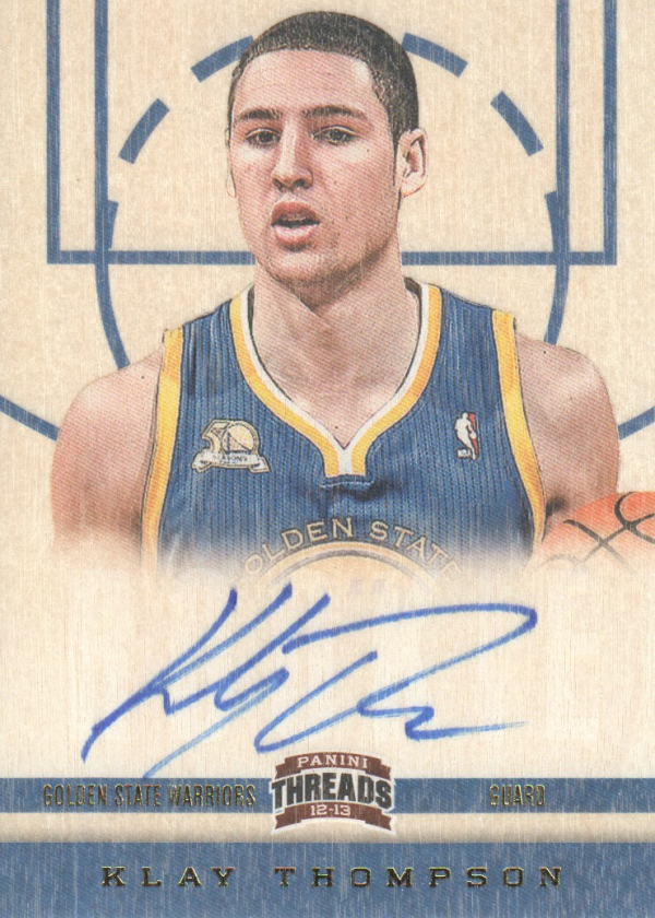 2012-13 Panini Threads #159 Klay Thompson AU RC