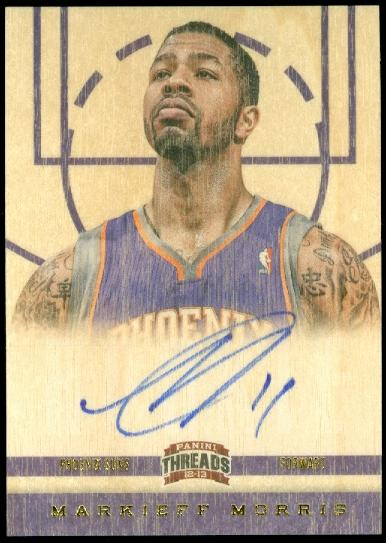 2012-13 Panini Threads #161 Markieff Morris AU RC