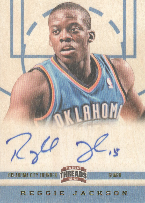2012-13 Panini Threads #170 Reggie Jackson AU RC