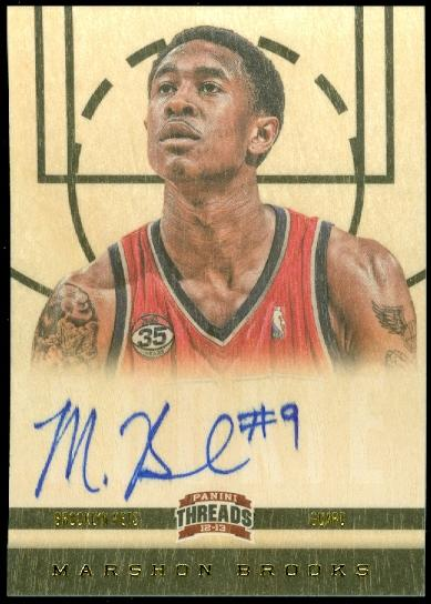 2012-13 Panini Threads #171 MarShon Brooks AU RC