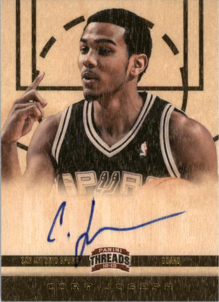 2012-13 Panini Threads #175 Cory Joseph AU RC
