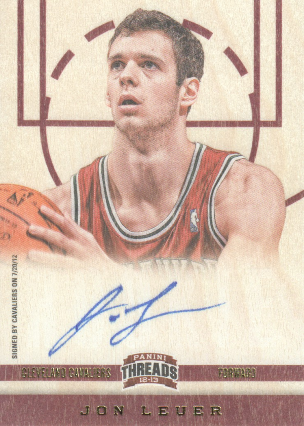 2012-13 Panini Threads #184 Jon Leuer AU RC