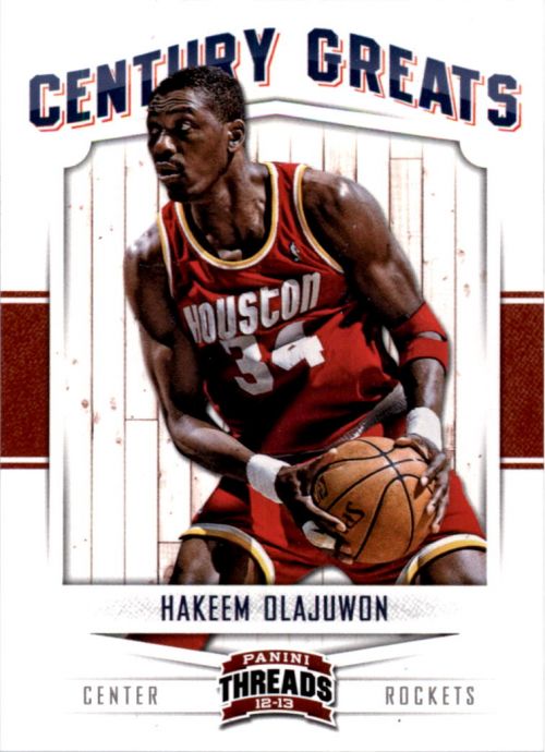2012-13 Panini Threads Century Greats #8 Hakeem Olajuwon