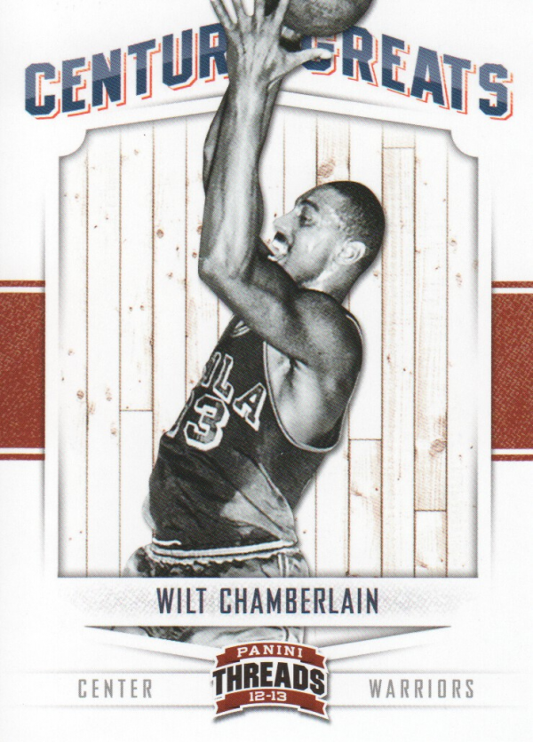 2012-13 Panini Threads Century Greats #10 Wilt Chamberlain