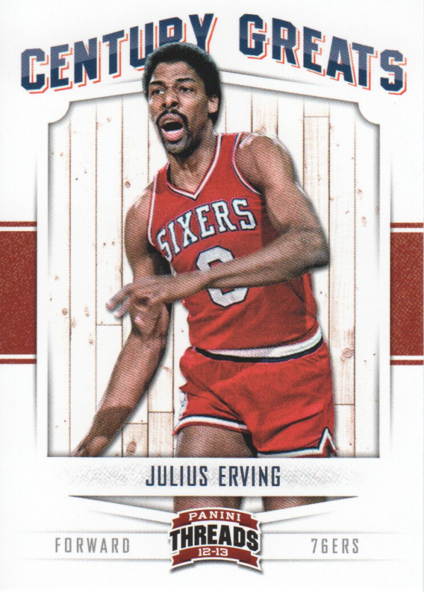2012-13 Panini Threads Century Greats #11 Julius Erving