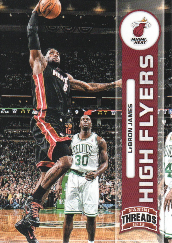 2012-13 Panini Threads High Flyers #2 LeBron James