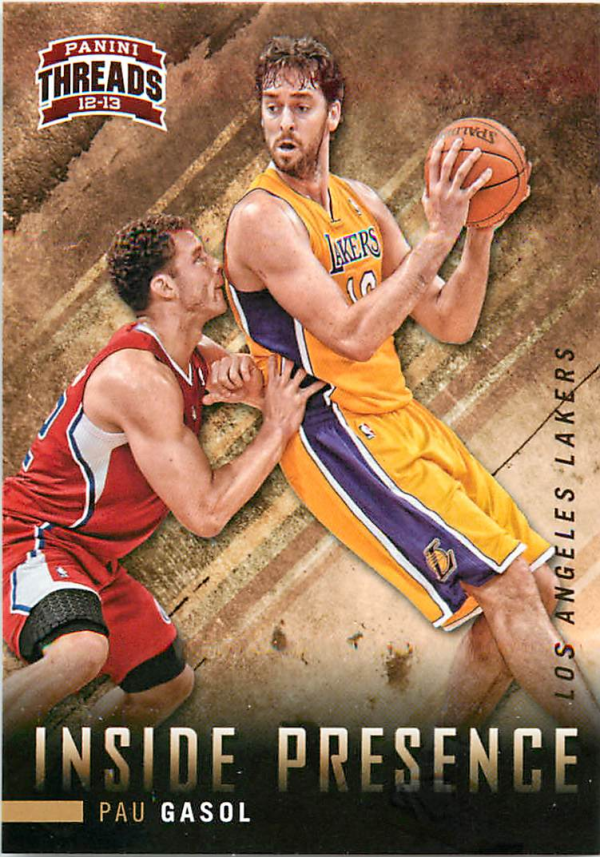 2012-13 Panini Threads Inside Presence #5 Pau Gasol