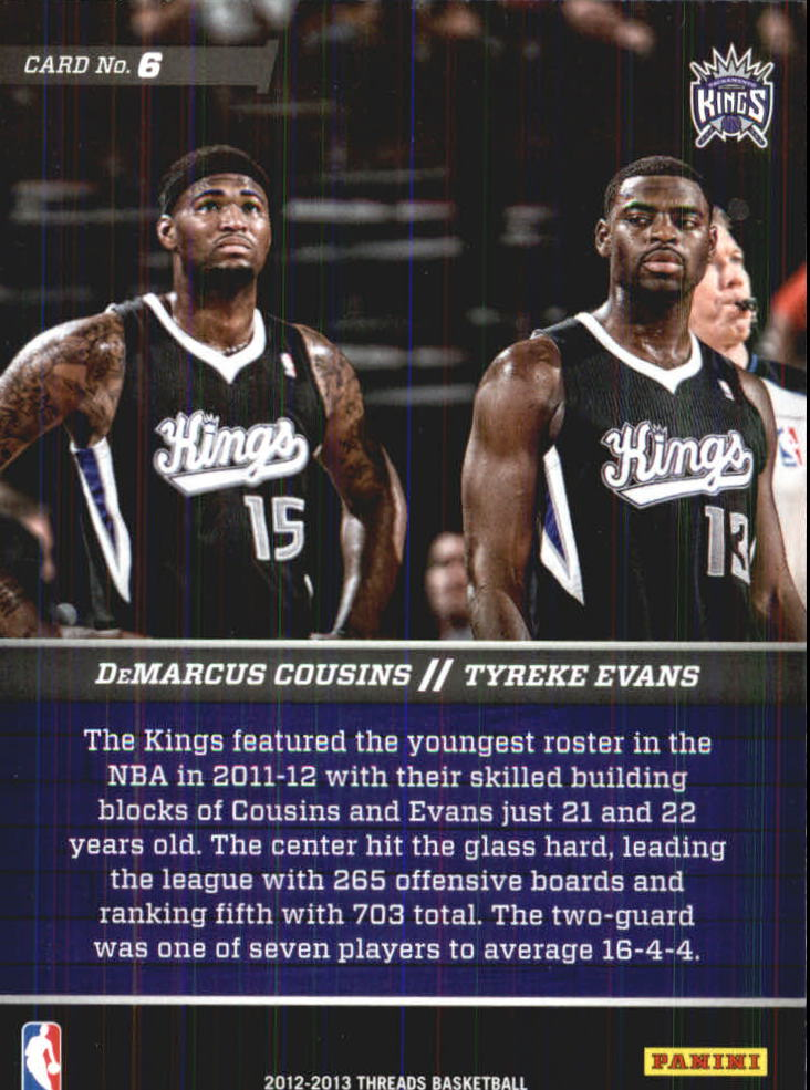 2012-13 Panini Threads Talented Twosomes #6 Tyreke Evans/DeMarcus Cousins