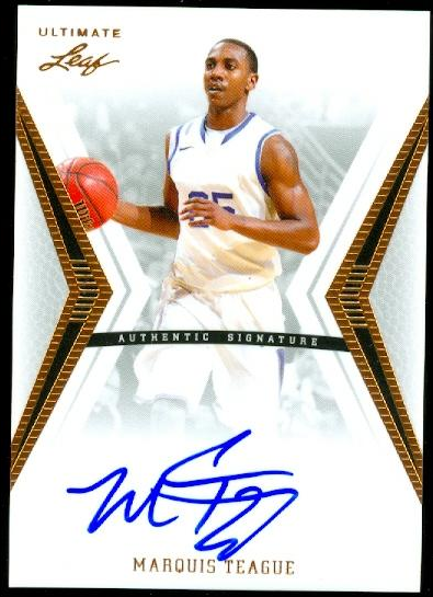 2012-13 Leaf Ultimate #MT1 Marquis Teague