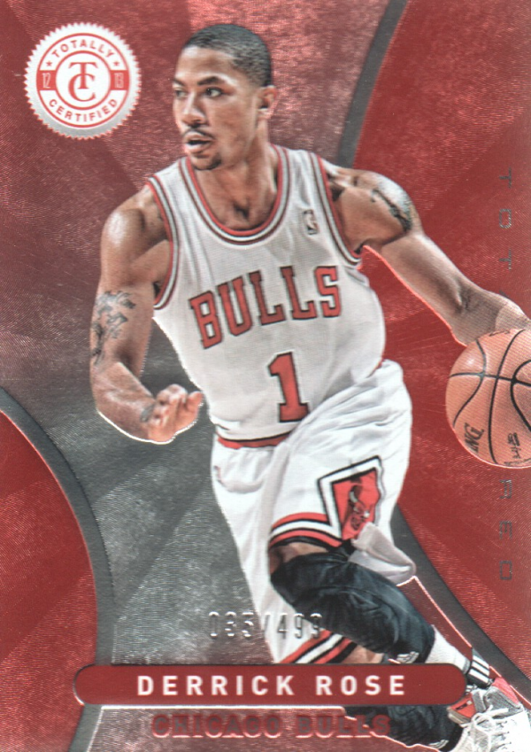 2012-13 Totally Certified Red #172 Derrick Rose