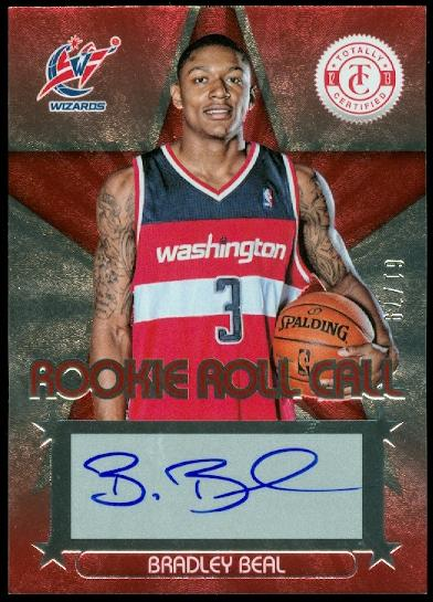 2012-13 Totally Certified Rookie Roll Call Autographs Red #15 Bradley Beal/78