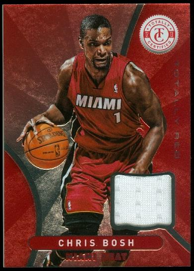 2012-13 Totally Certified Red Materials #3 Chris Bosh